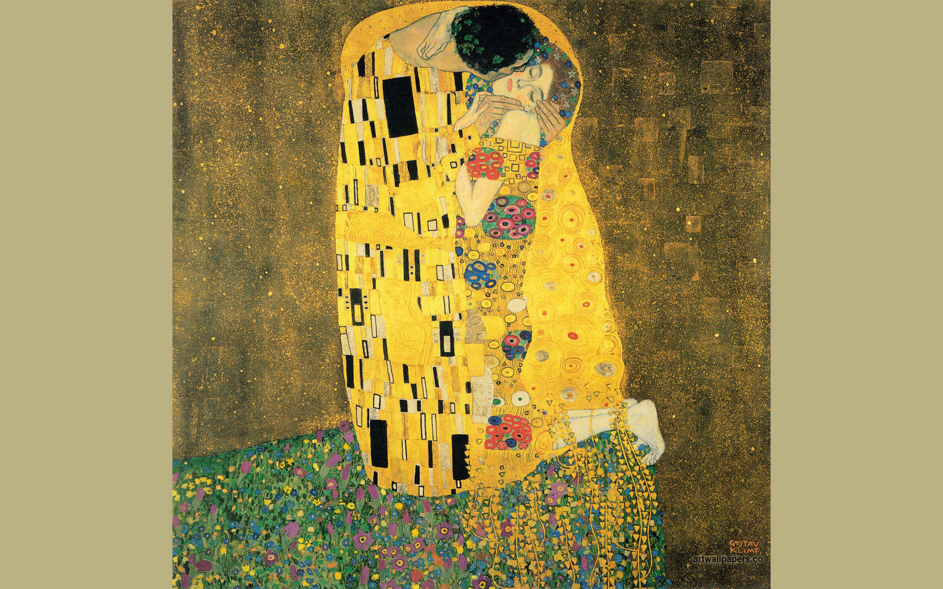 gustav klimt wallpaper wallpapersafari. Black Bedroom Furniture Sets. Home Design Ideas