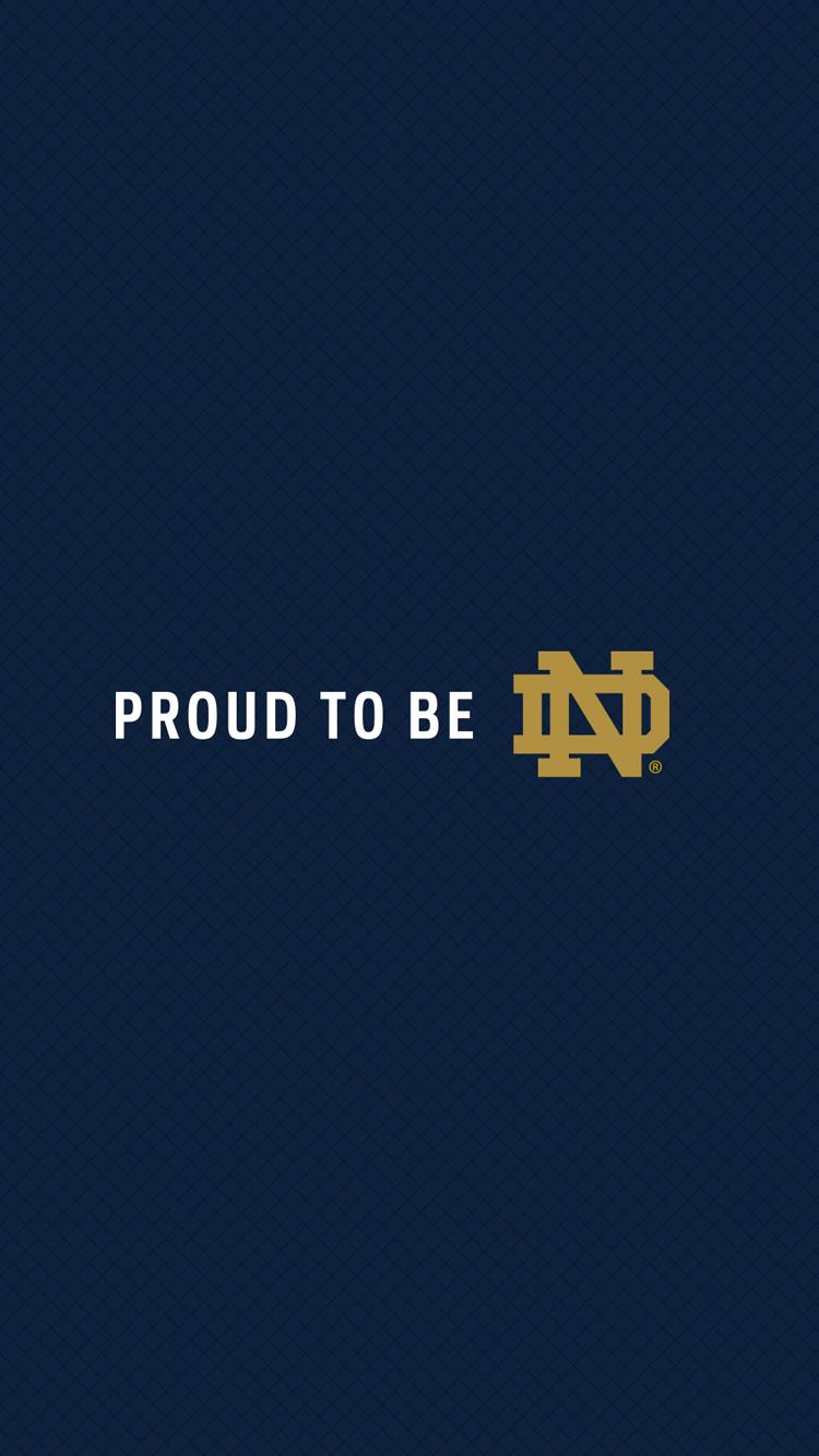 Notre Dame football team logo wallpaper for iPhone 6 HD Wallpaper 750x1334