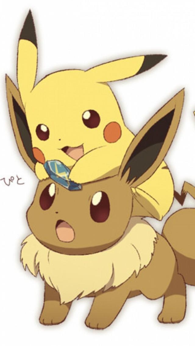 Free Download Pikachu And Eevee Iphone Wallpaper 640x1136