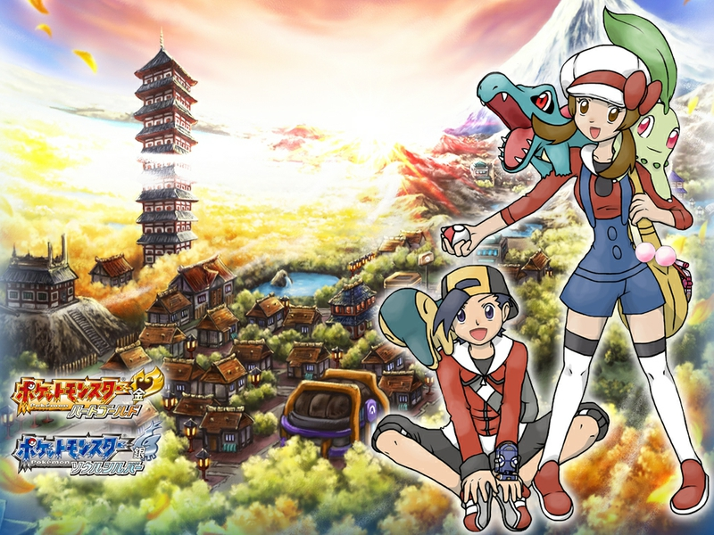 gold Heart gold Pokemon S and G Anime Pokemon HD Desktop Wallpaper 800x600