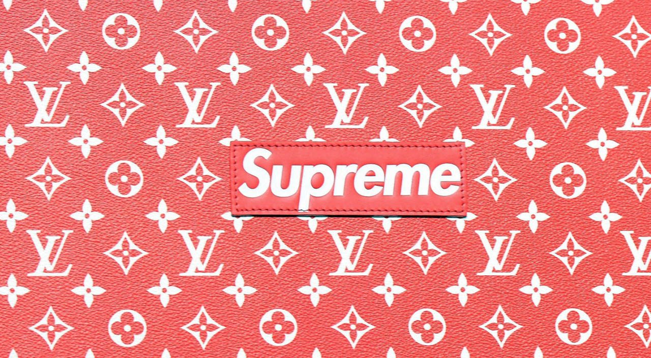 Louis Vuitton X Supreme Wallpaper Mit Hillel