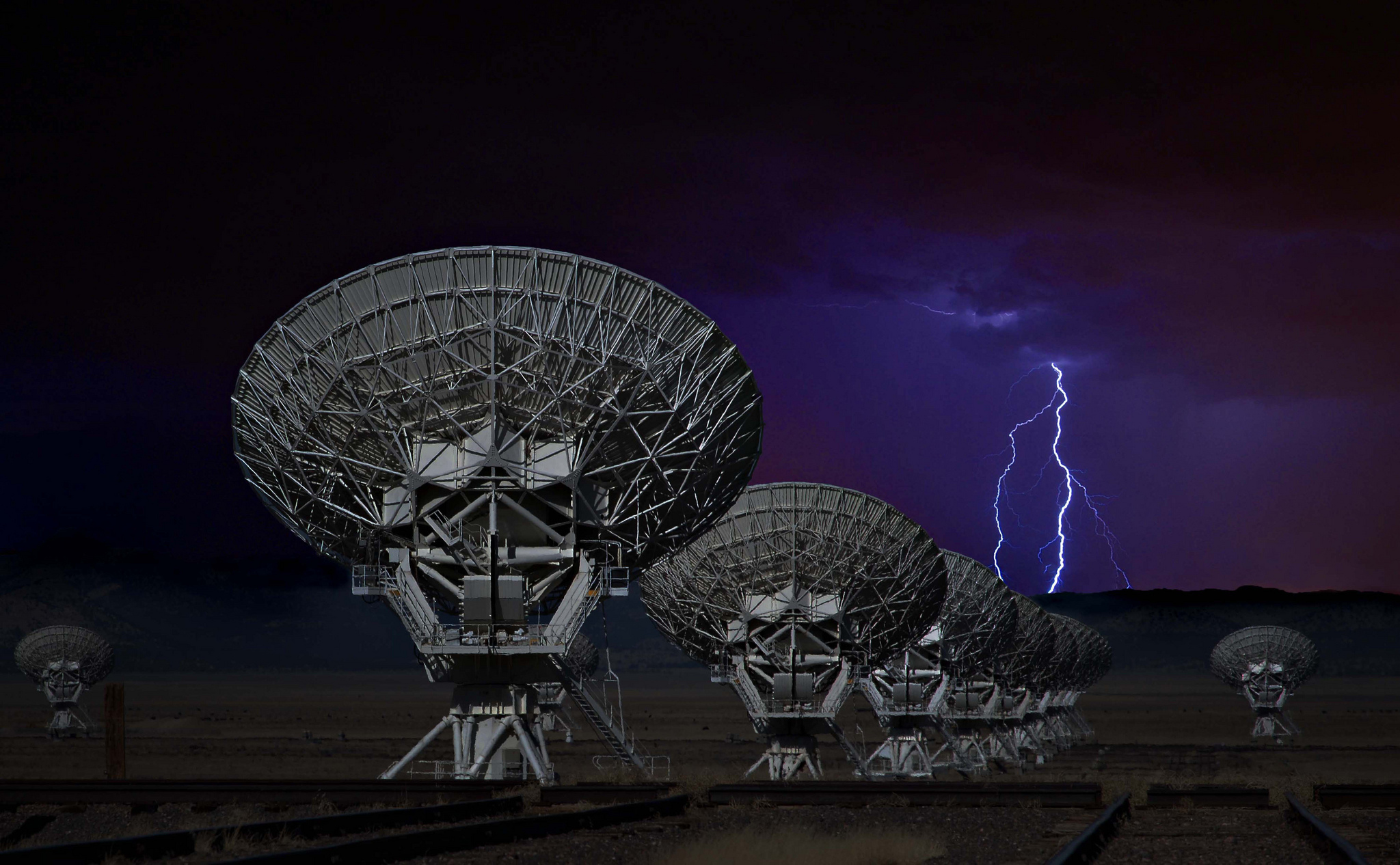 New mexico the sky lightning technology antenna the radio 2048x1266