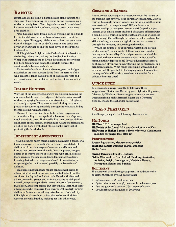 The Outlander 5e Backgrounds   Dungeons and Dragons 711x915