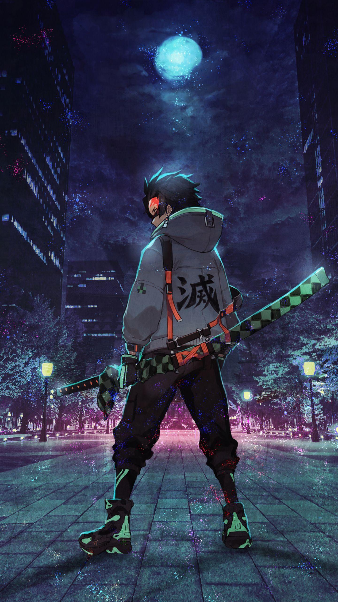 14402560 Urban ninja anime art wallpaper   rangekon 1440x2560