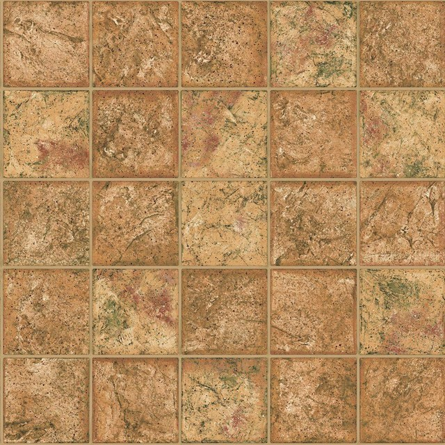 The Wallpaper Company Brown Earth Tone Ceramic Tile Wallpaper 640x640