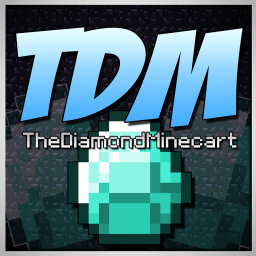 DanTDM logo DIAMONDS ON MINECARTS Pinterest 512x512