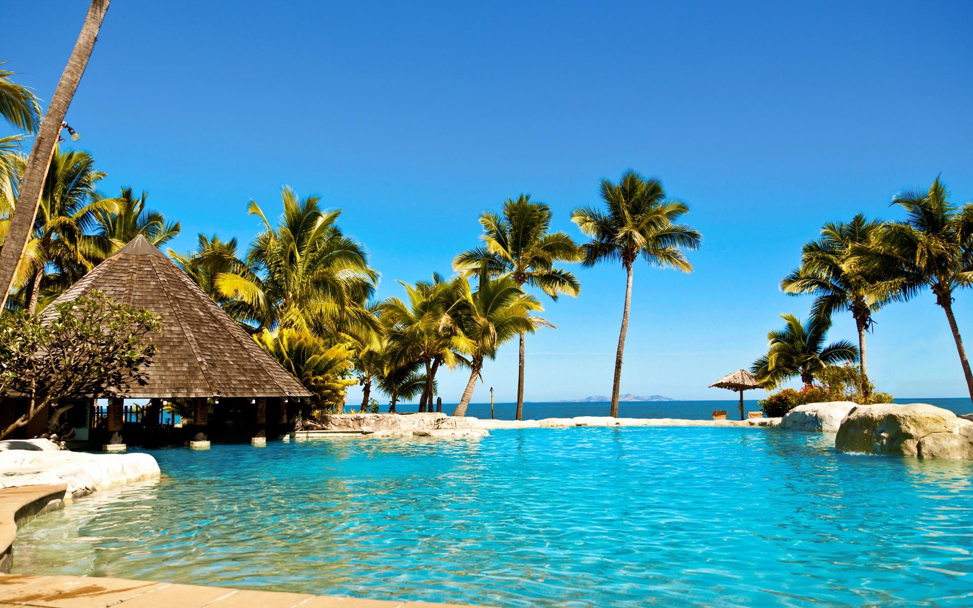 tropical resort wallpaper wallpapersafari. Black Bedroom Furniture Sets. Home Design Ideas