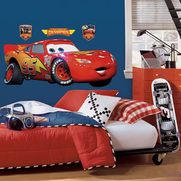 RoomMates Peel Stick Wall Decals   Cars Lightning McQueen Target 620x620