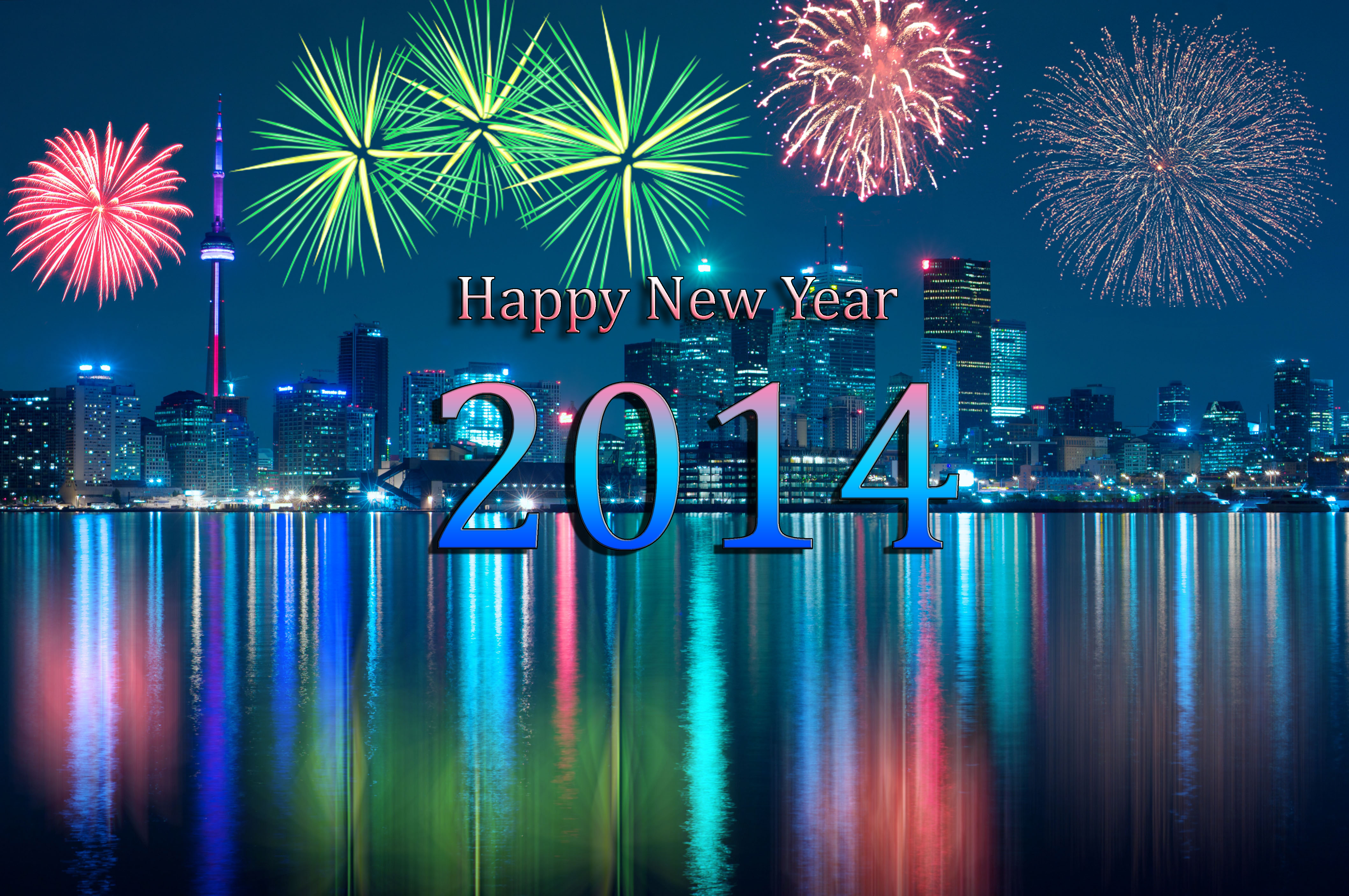 Happy New Year 2014  Wallpaper Canadian Bhutanese 4236x2814
