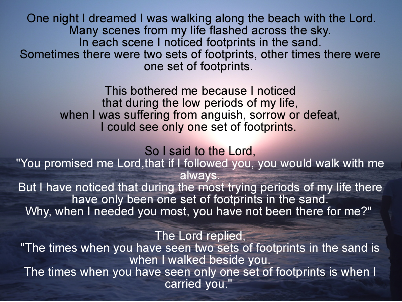Footprints In The Sand Prayer Wallpapers Images Pictures   Becuo 800x600