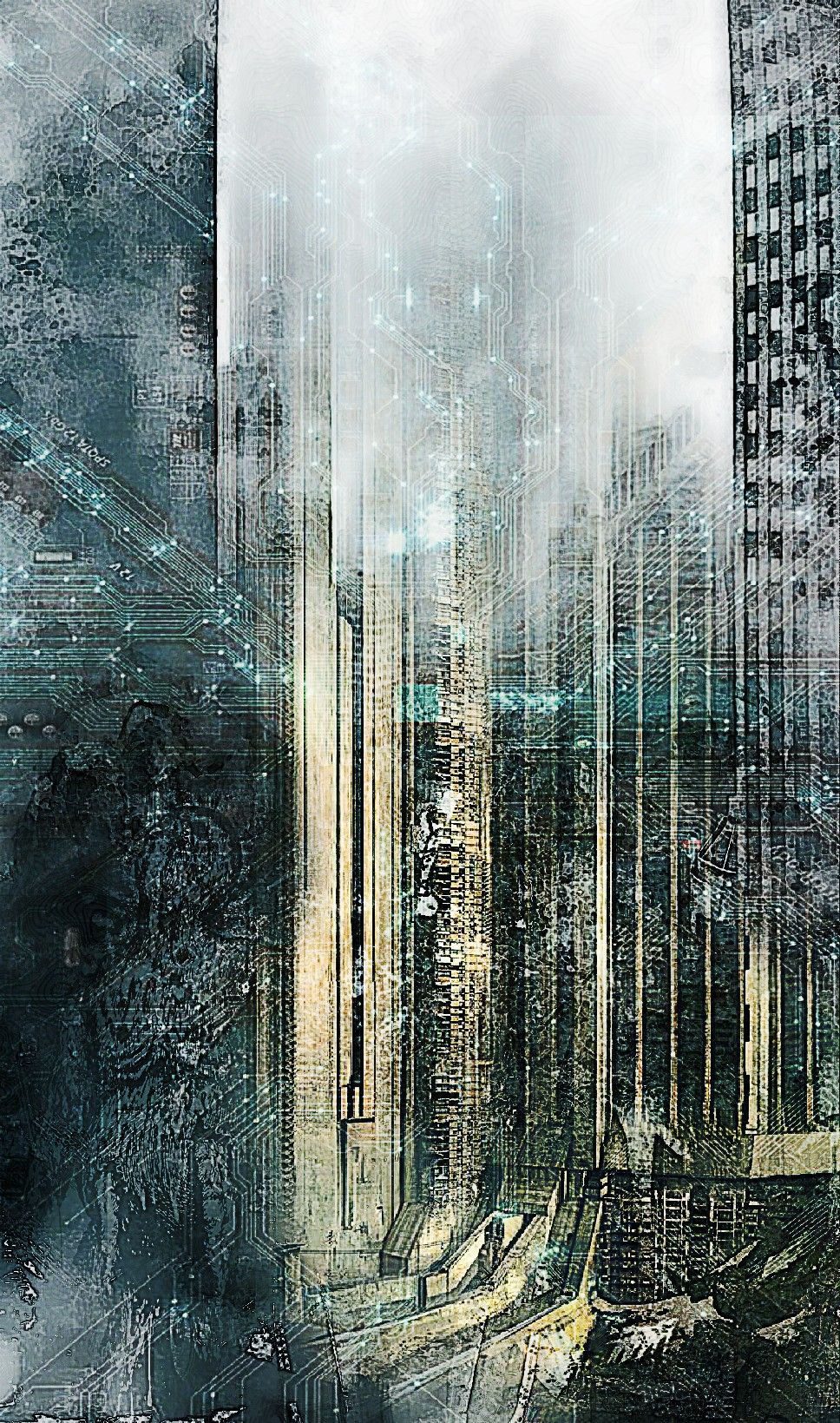 Background dystopian city by Hnh nh 968x1639