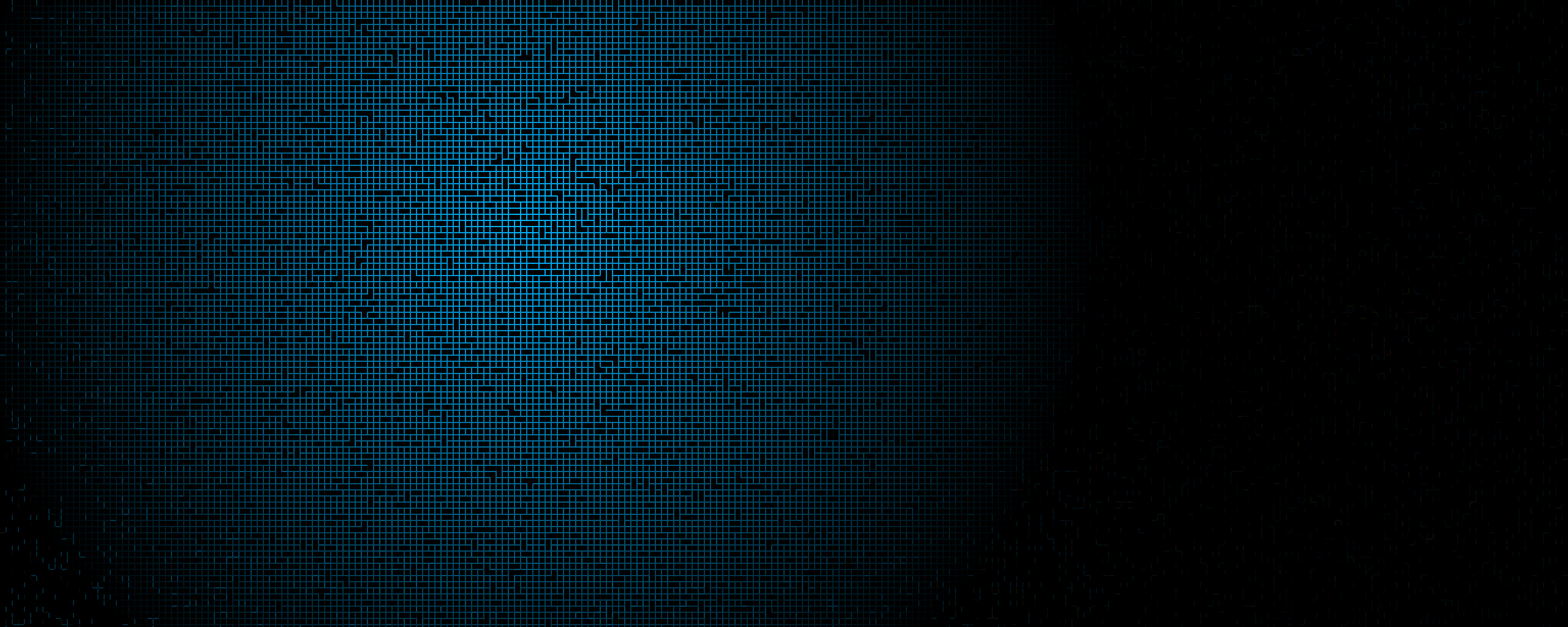 Blue Black Blocks Square large resolution wallpaper background 2560x1024