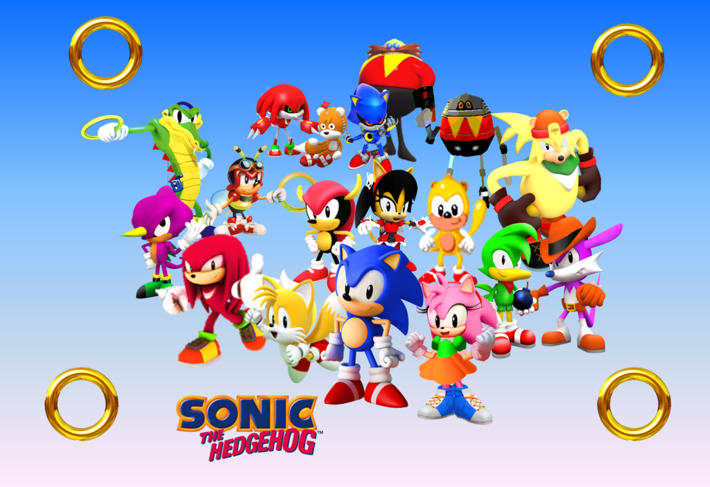 Free Download Classic Sonic And His Gang Wallpaper By 9029561