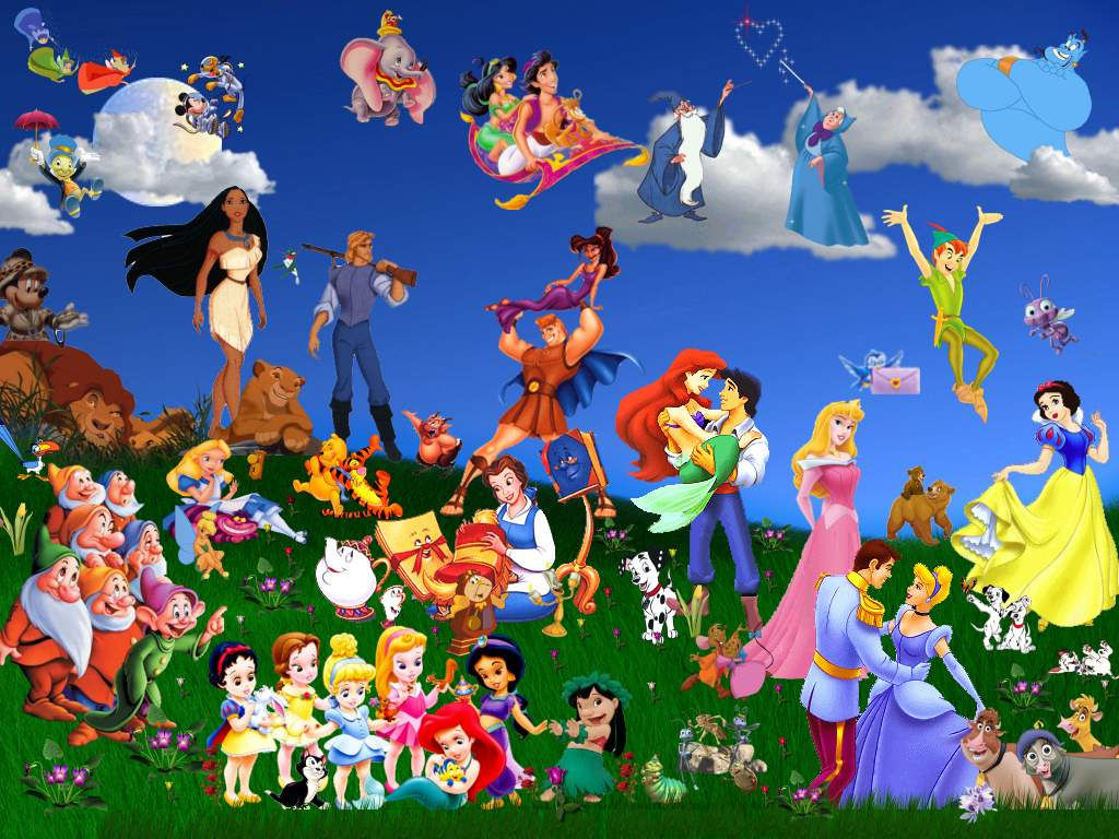 Disney background image Wallpapers 1024x768