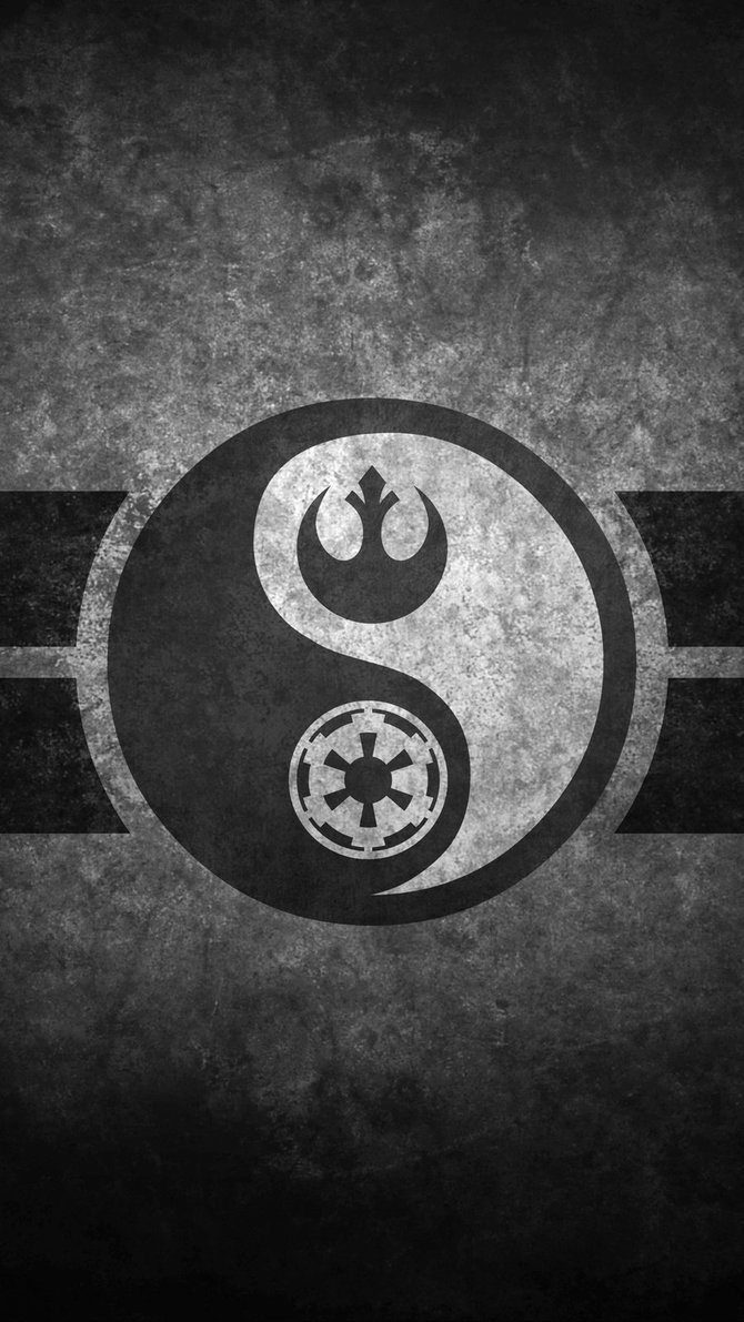 Star Wars Yin Yang Cellphone Wallpaper by swmand4 670x1191
