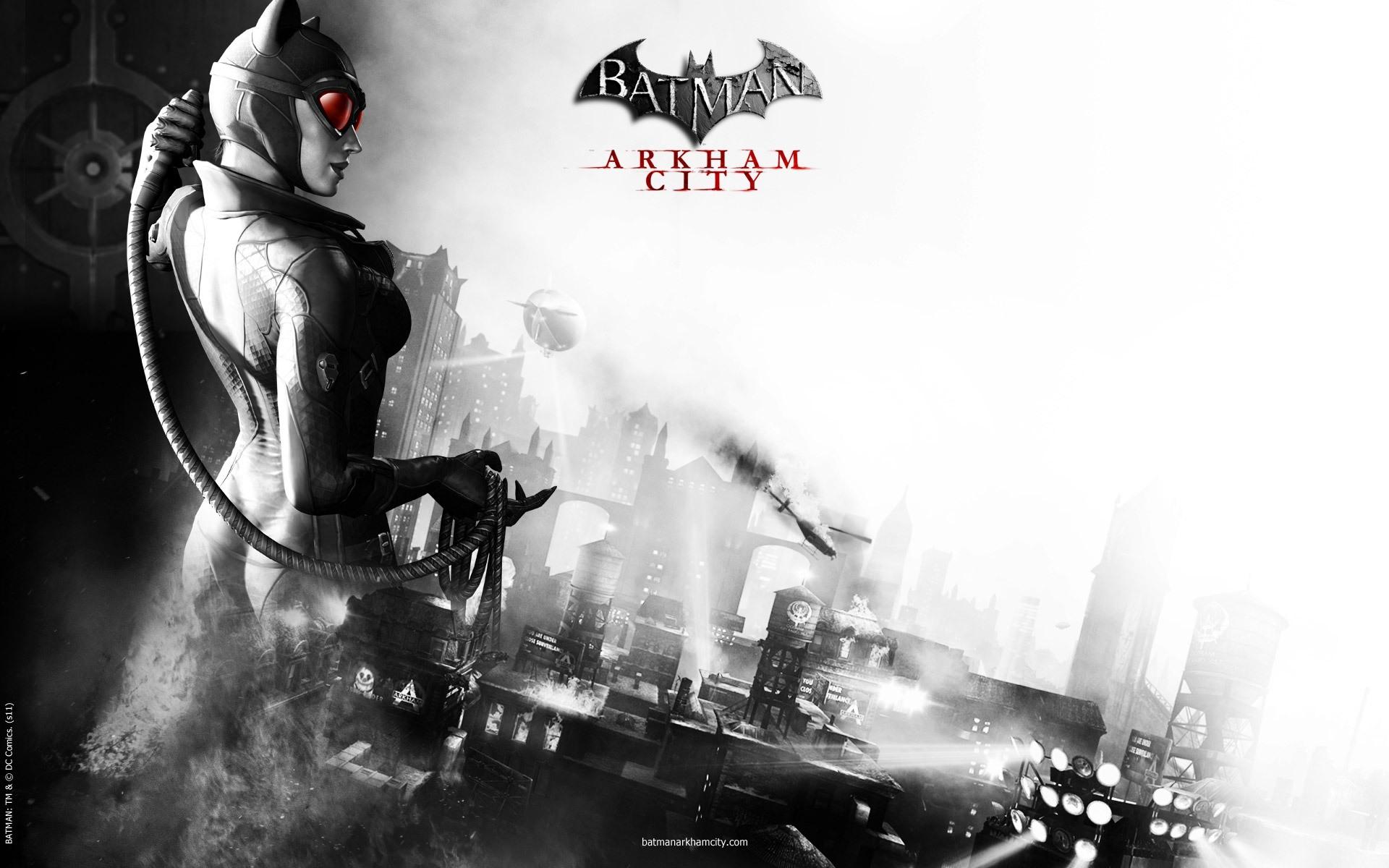 Catwoman from Batman Arkham City desktop wallpaper 1920x1200