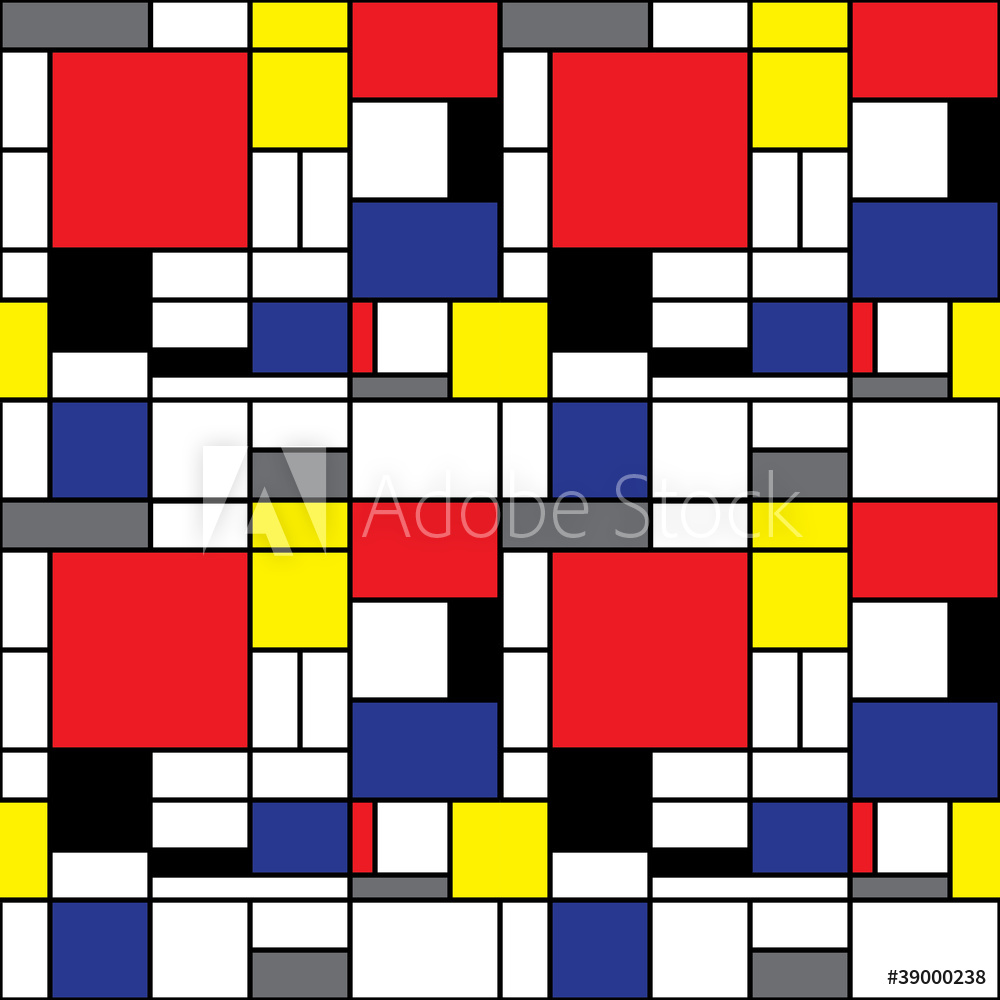 Fotografie Obraz Repeating Mondrian Background Posterscz 1000x1000