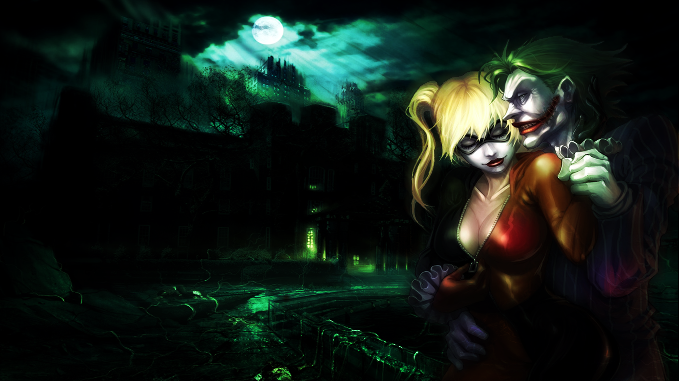 Joker n Harley Quinn Wallpaper by Mezalira on deviantART 1366x768