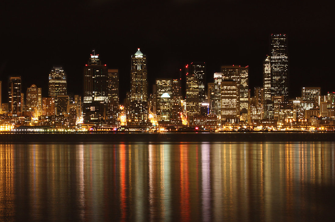 Seattle Night by h00n3r 1098x728