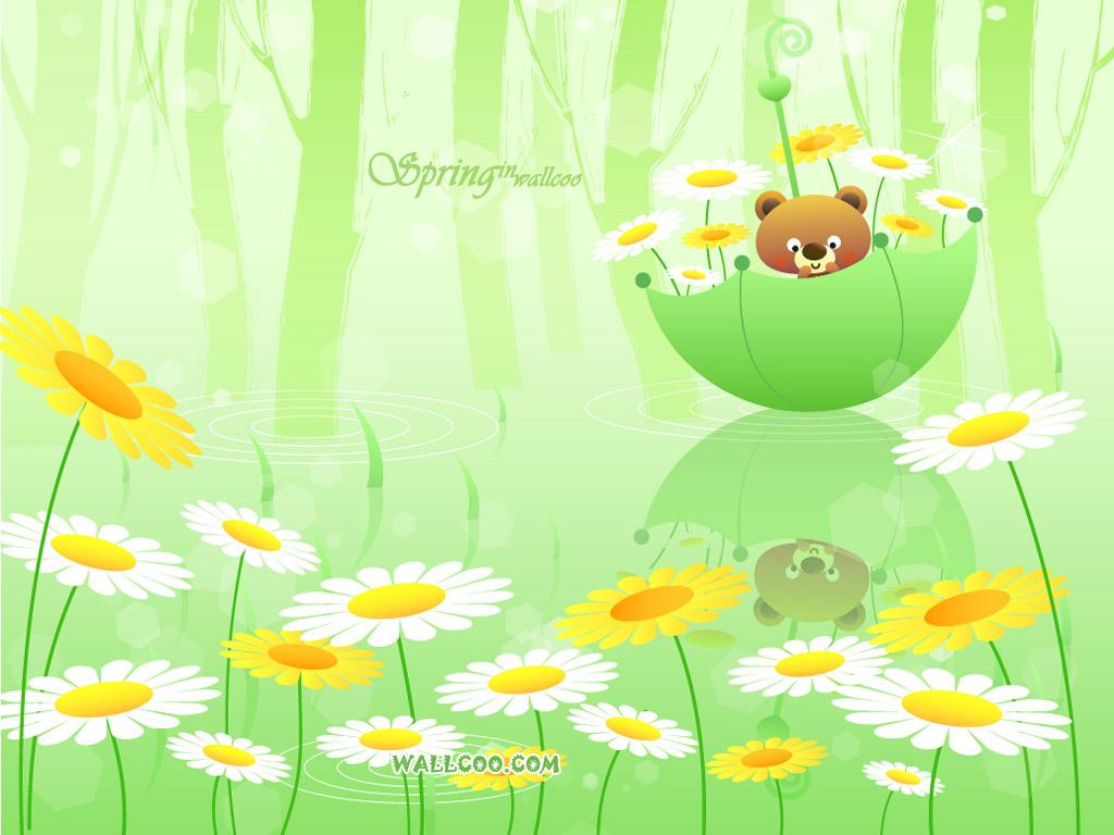 spring cartoon wallpaper - photo #9