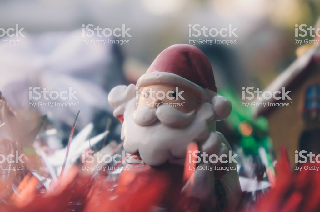 Santa Claus And Chirstmas Background Stock Photo   Download Image 1024x681