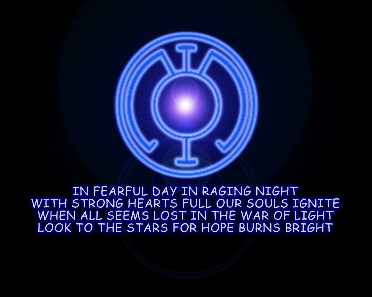 GL Desktop Blue Lantern Oath by saikat4ever 1280x1024