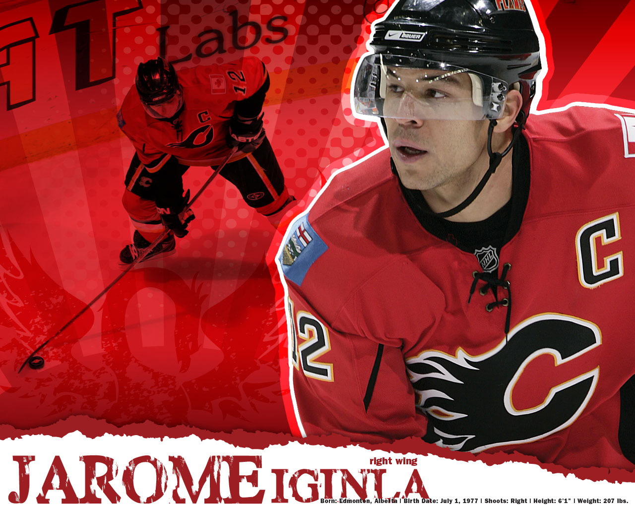 Jarome Iginla Calgary Flames Wallpaper 176352 HD Wallpaper Res 1280x1024