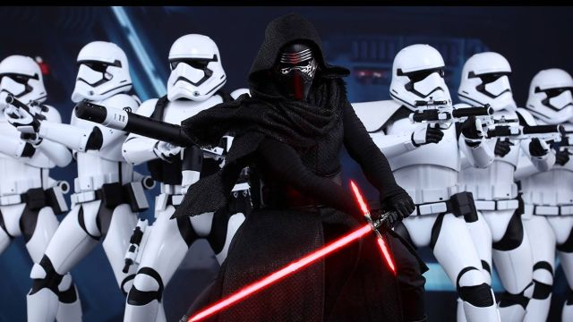 Kylo Ren and the First Order Stormtroopers assemble 640x360