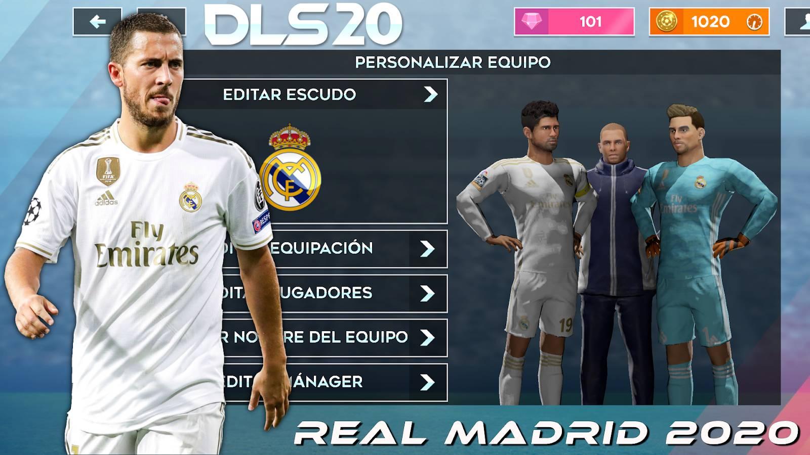 DLS 20 Mod APK Real Madrid Team 2020 Download 1600x900