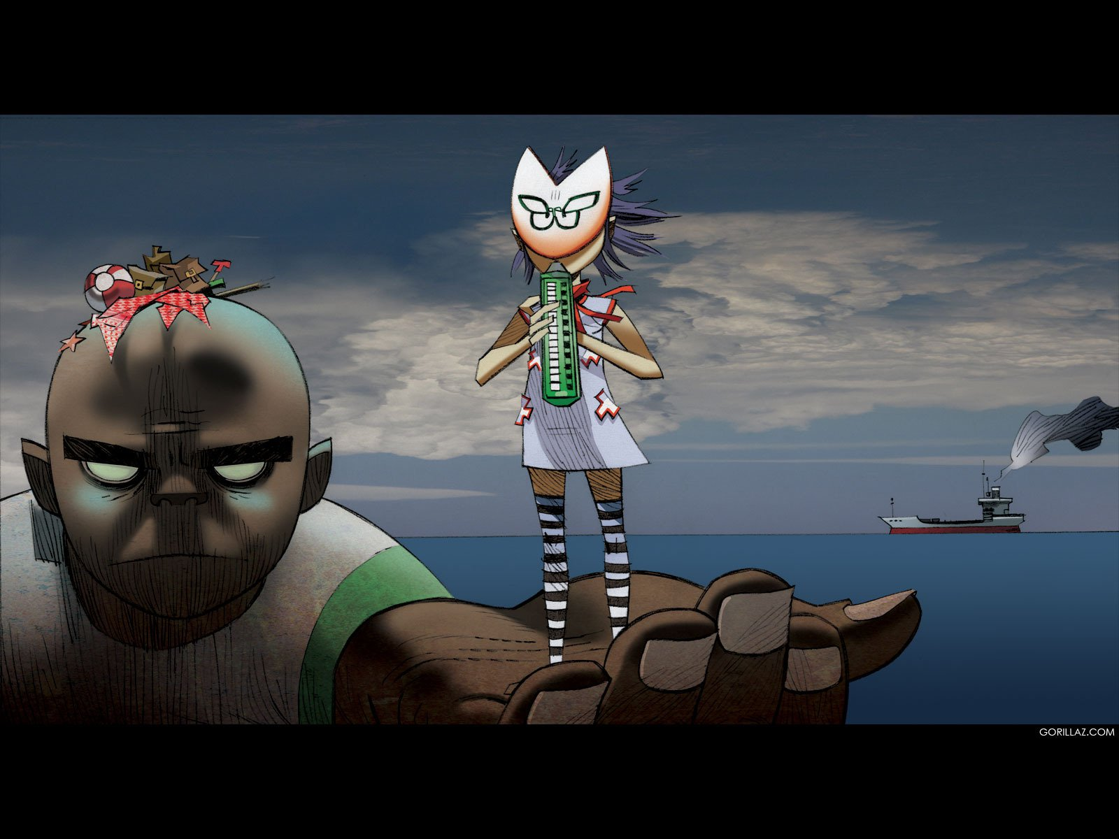 gorillaz wallpapers plastic beach - photo #9