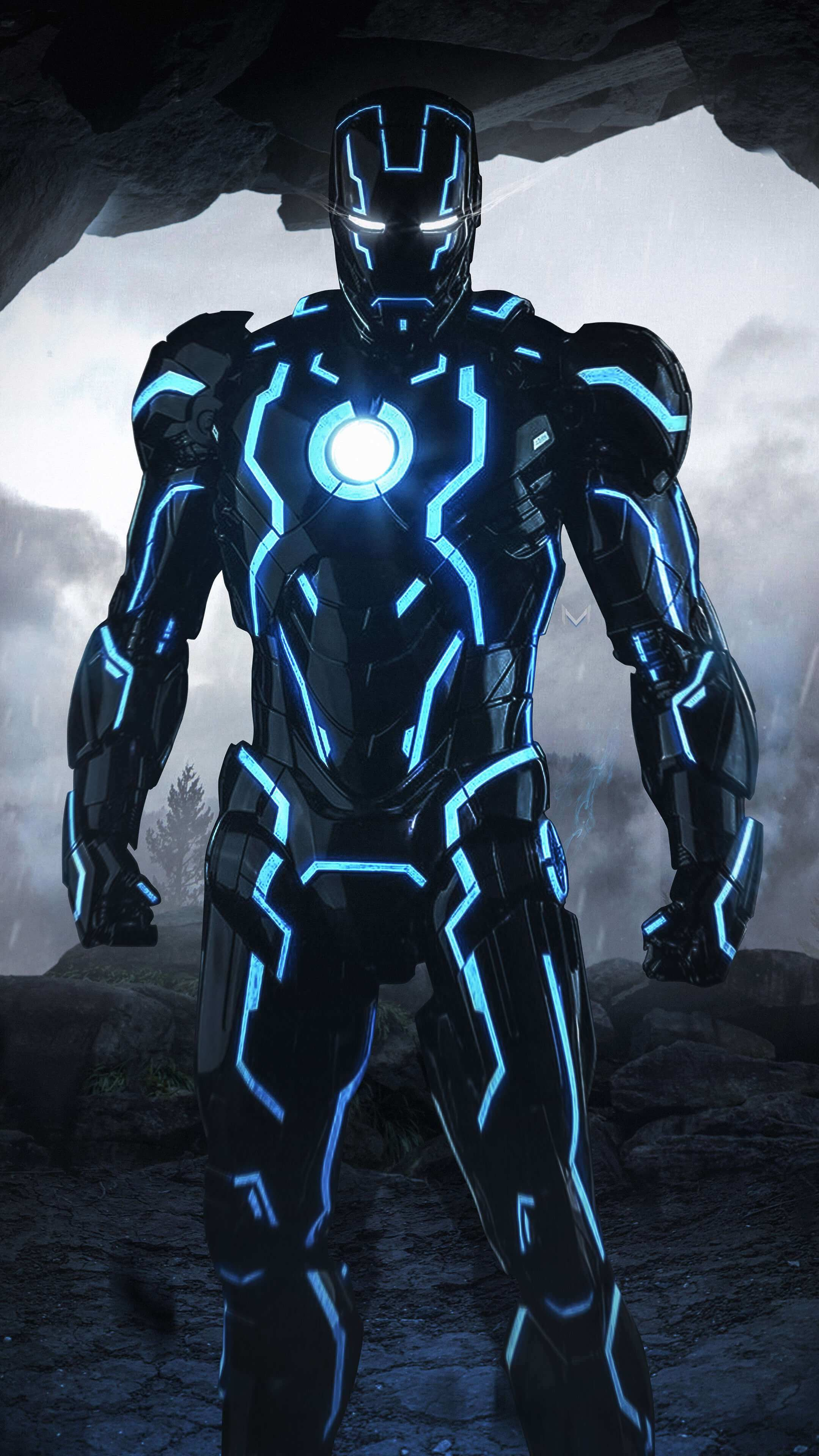 Iron man Neon Suit iPhone Wallpaper marvel Iron man wallpaper 2159x3840