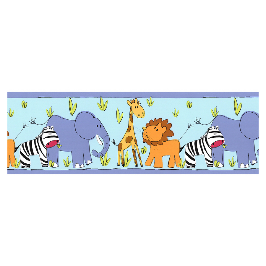 Shop Norwall Animal Kingdom Wallpaper Border at Lowescom 900x900