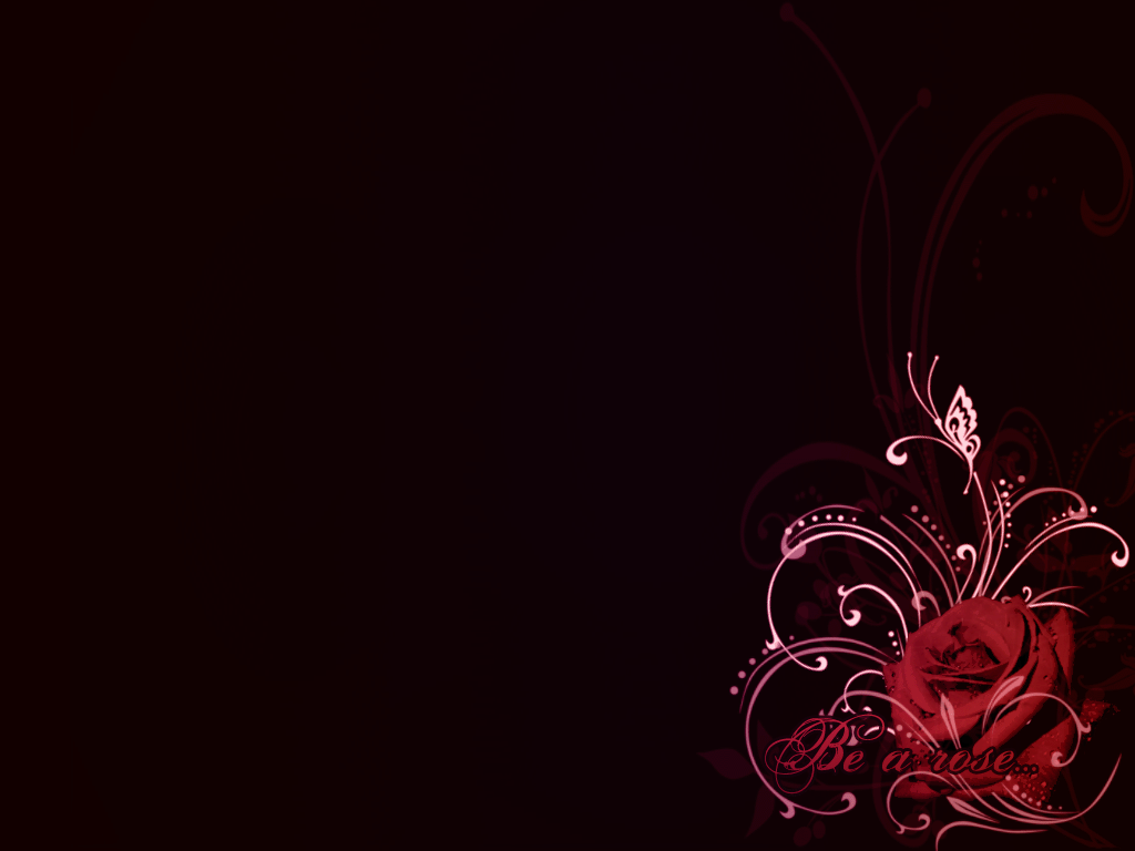 Flowers For Red Rose Black Background 1024x768