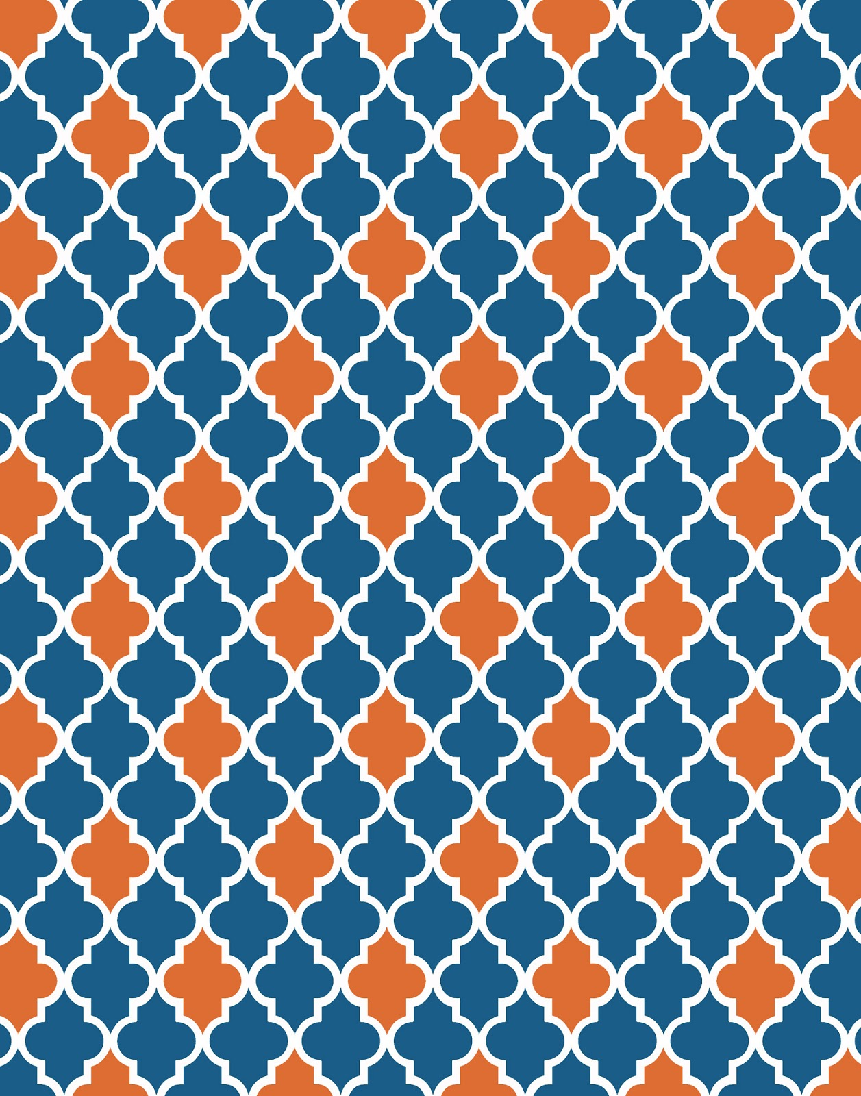 Blue And Orange Chevron Wallpaper Moroccanorangeandnavy 1257x1600