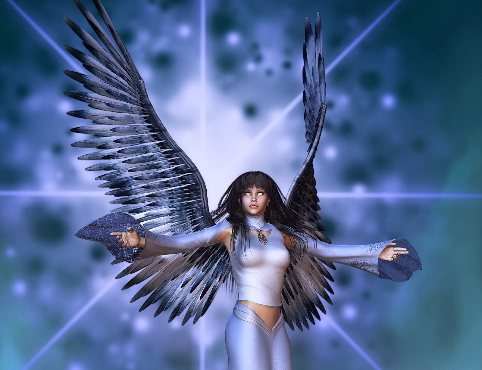 Angels 3d Graphics Fantasy Girls Gothic Angel Dark Demon Demons 1600x1229