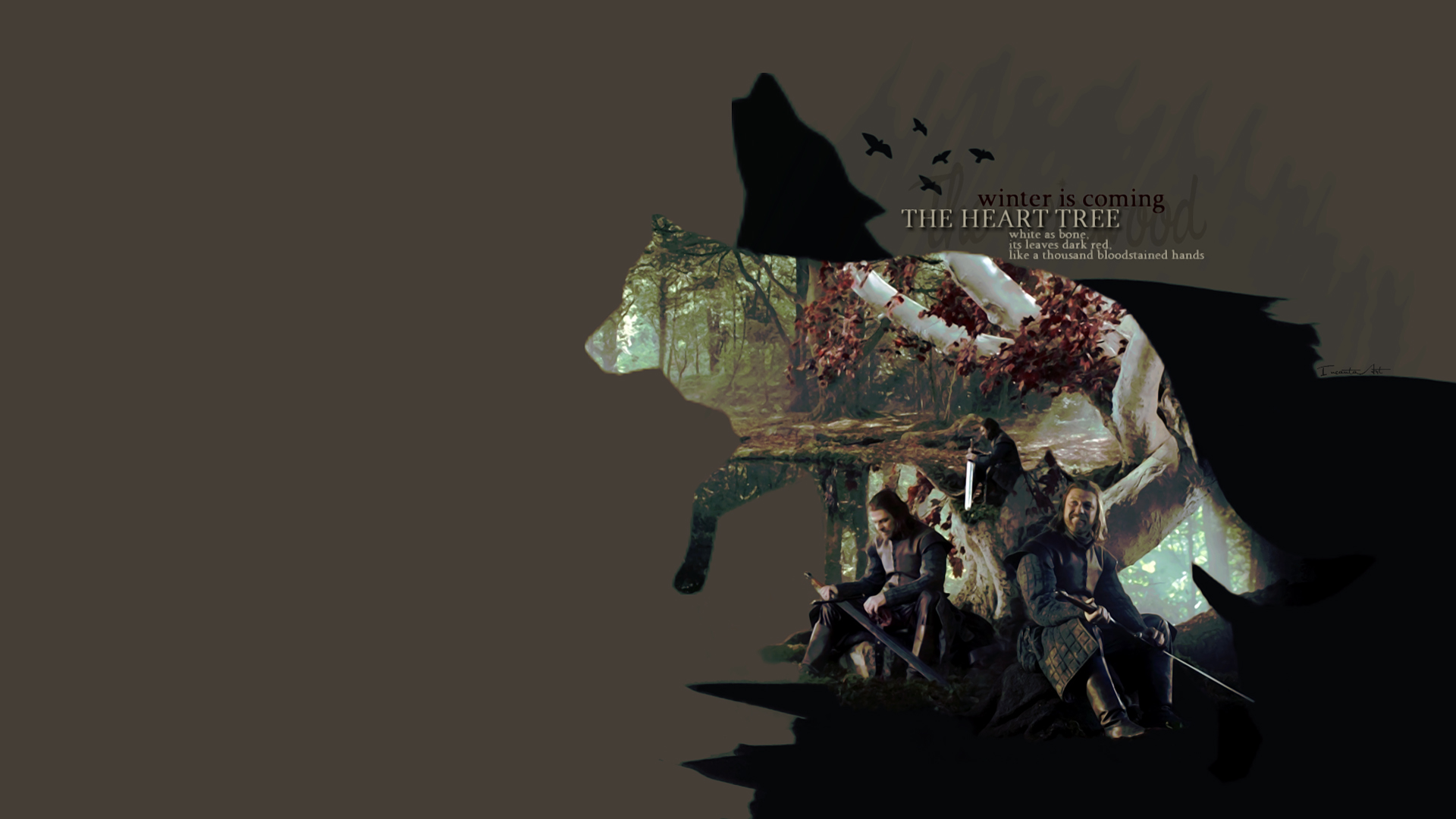 Game Of Thrones Supernatural Heart Thrones Tree Game Bright Game Of 1920x1080