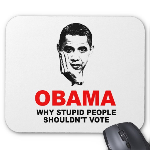 anti Obama Why Stupid People Shouldnt Vote Shirt Mouse Pads from 512x512