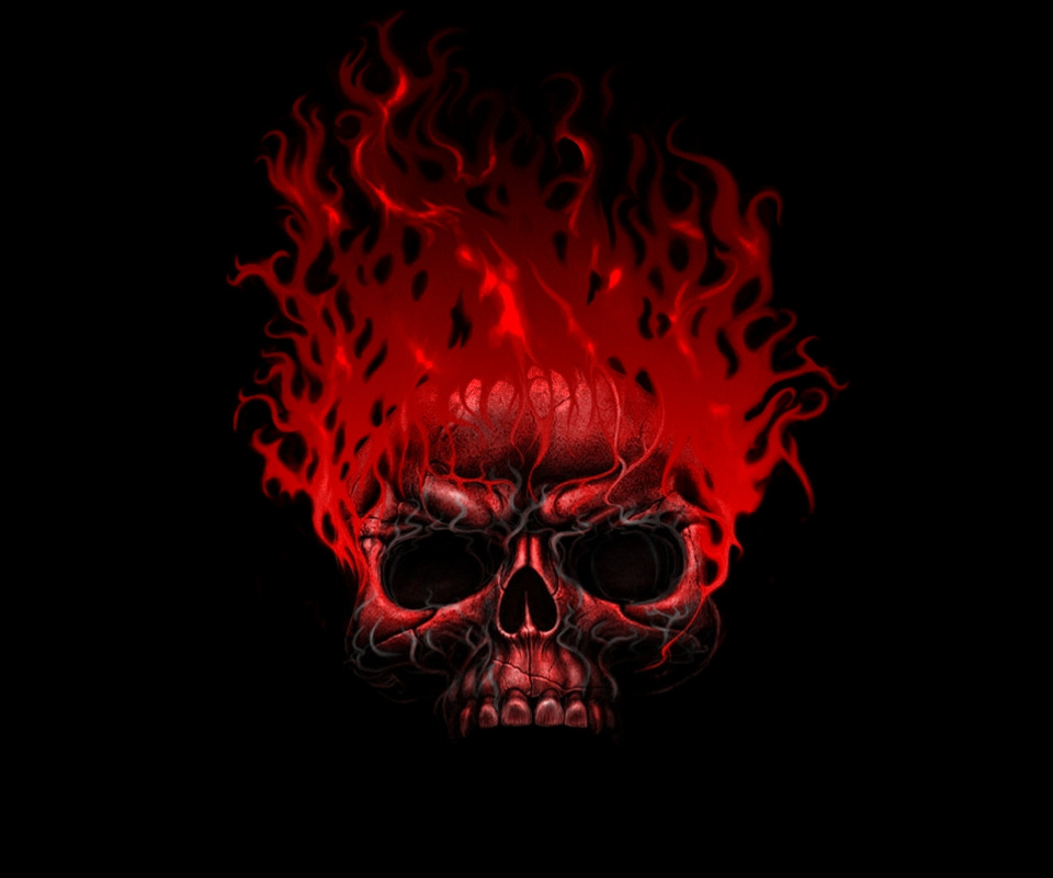 Skull And Flames 115446 flame skull redjpg 960x800