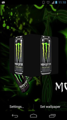 View bigger   Monster Energy 3D Wallpaper for Android screenshot 288x512