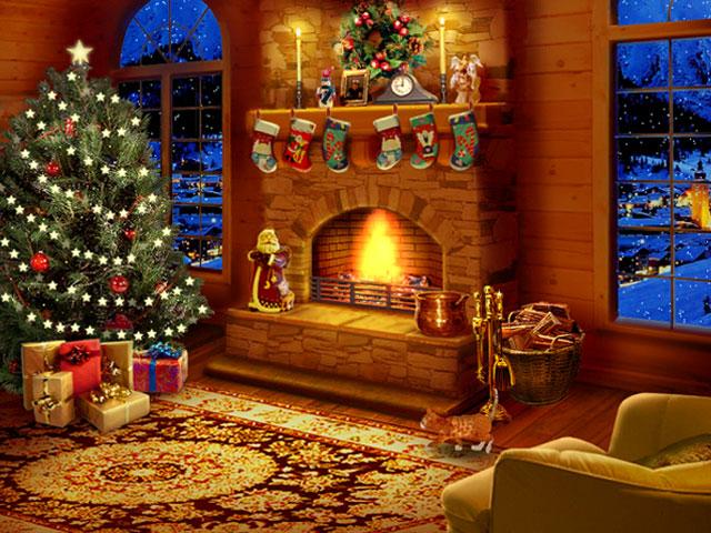 Night before christmas screensaver 640x480