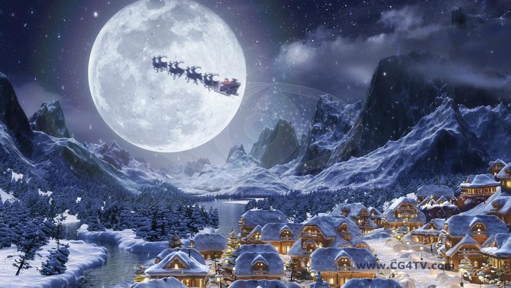 keywords animated christmas backgrounds hd christmas night snow santa 1000x563