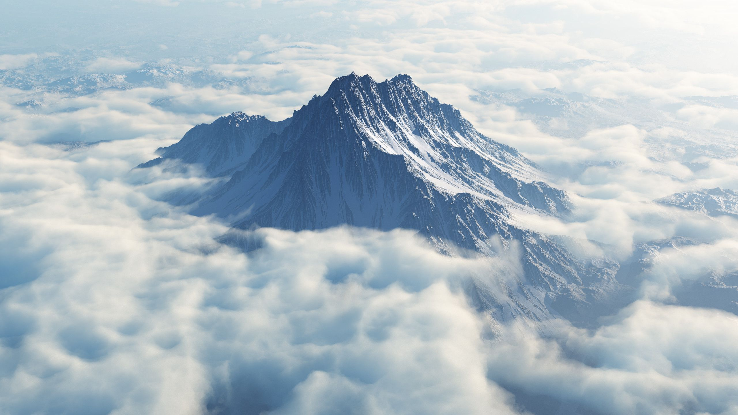 Images Beautiful pictures Mytikas looming above the clouds 2560x1440