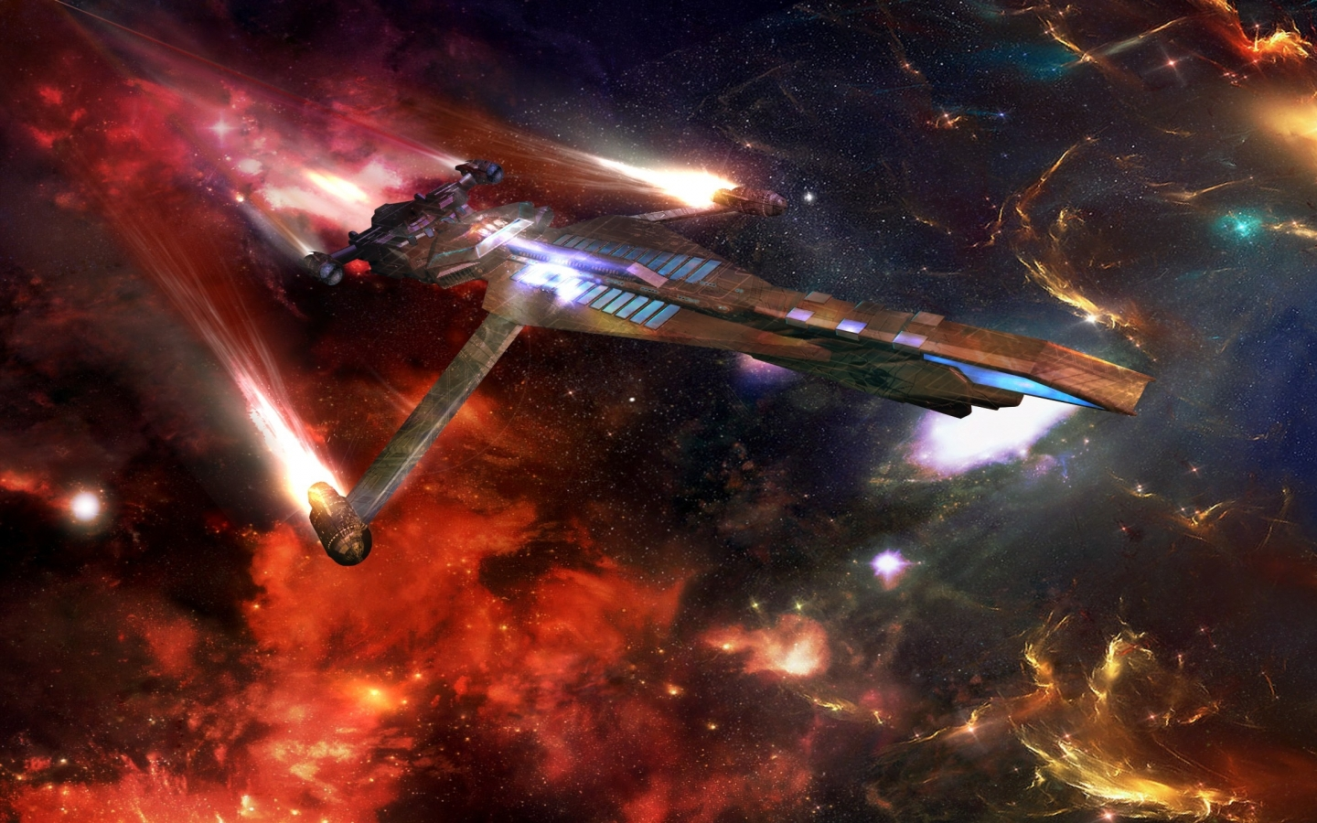 outer space space shuttle photomanipulations 2560x1440 wallpaper Art 1440x900
