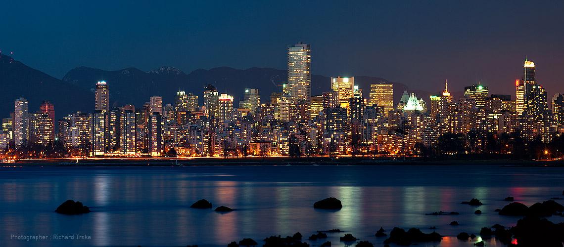 Pin Vancouver Bc Skyline Skies Buildings Water Hd Wallpaper on 1140x500