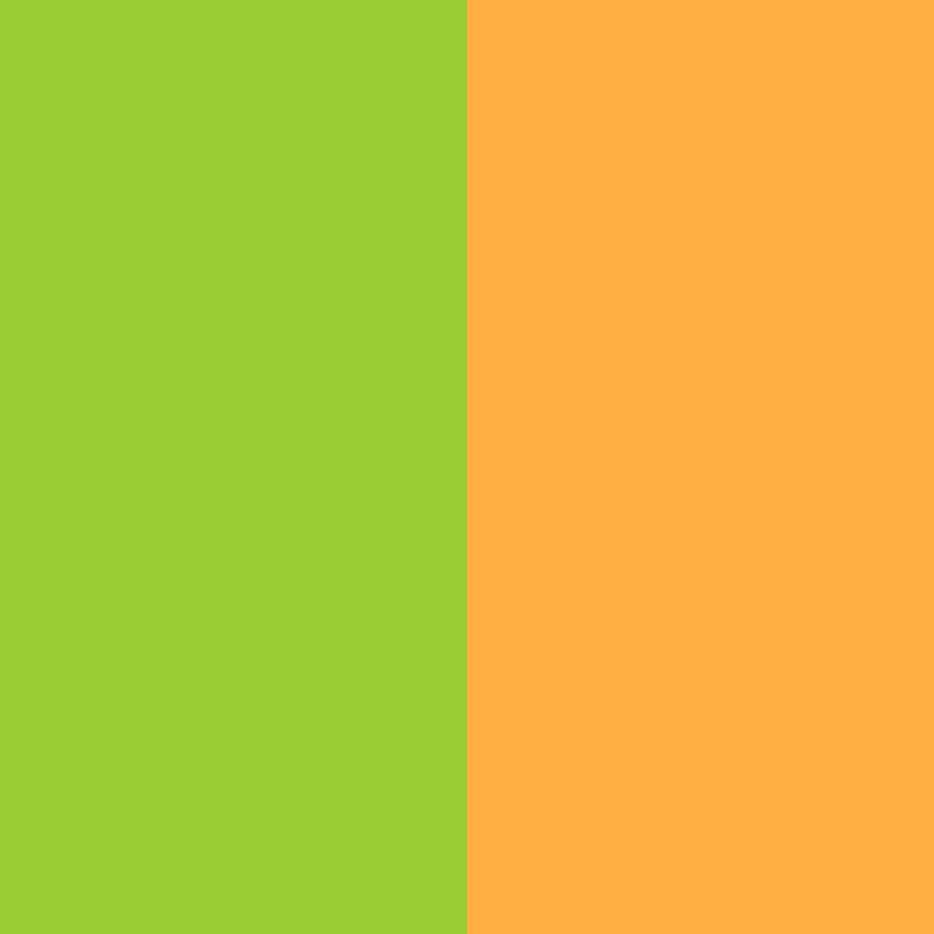 resolution Yellow green and Yellow Orange solid two color background 1024x1024