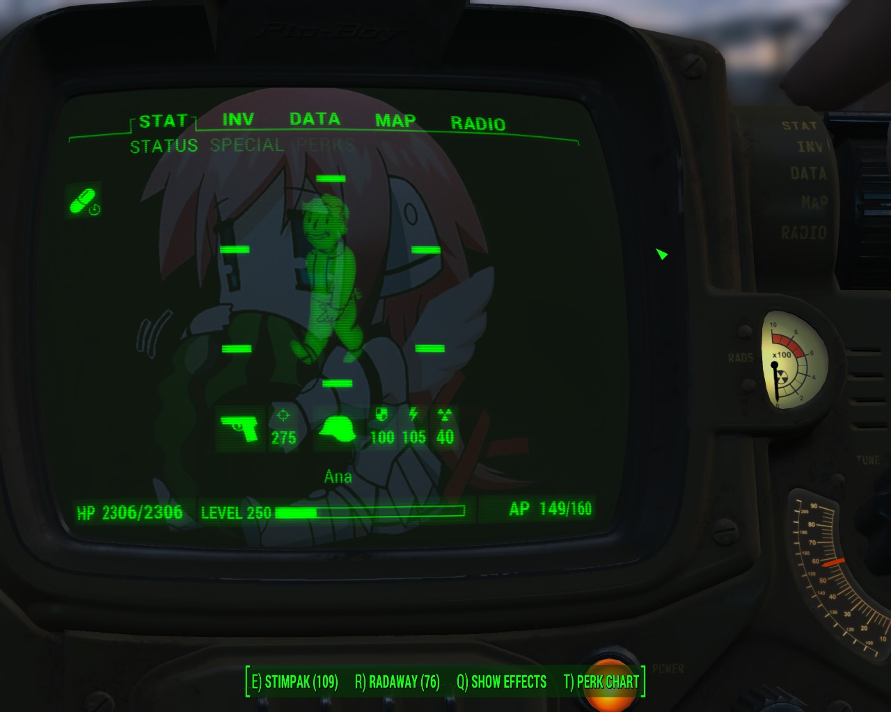 Free Download Ikaros Pip Boy Background Fallout 4 Mod Cheat Fo4