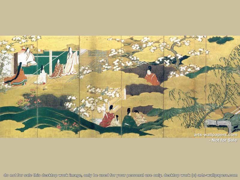 Japanese Art Imperial Paintings Wallpaper 800 x 600 800x600
