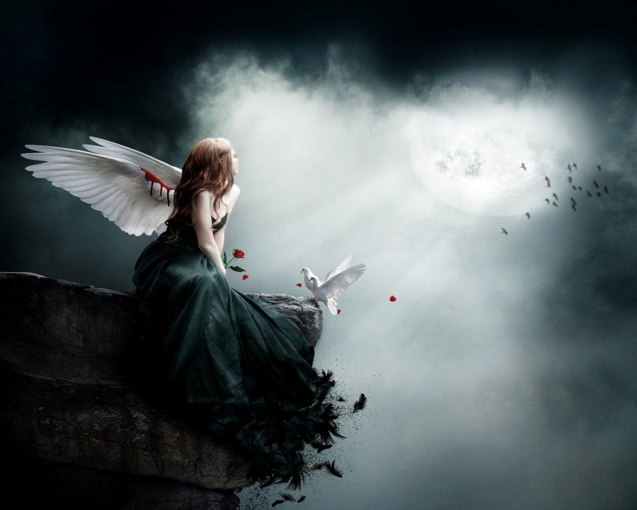 Gothic girl wallpaper wallpapersafari - Gothic angel wallpaper ...