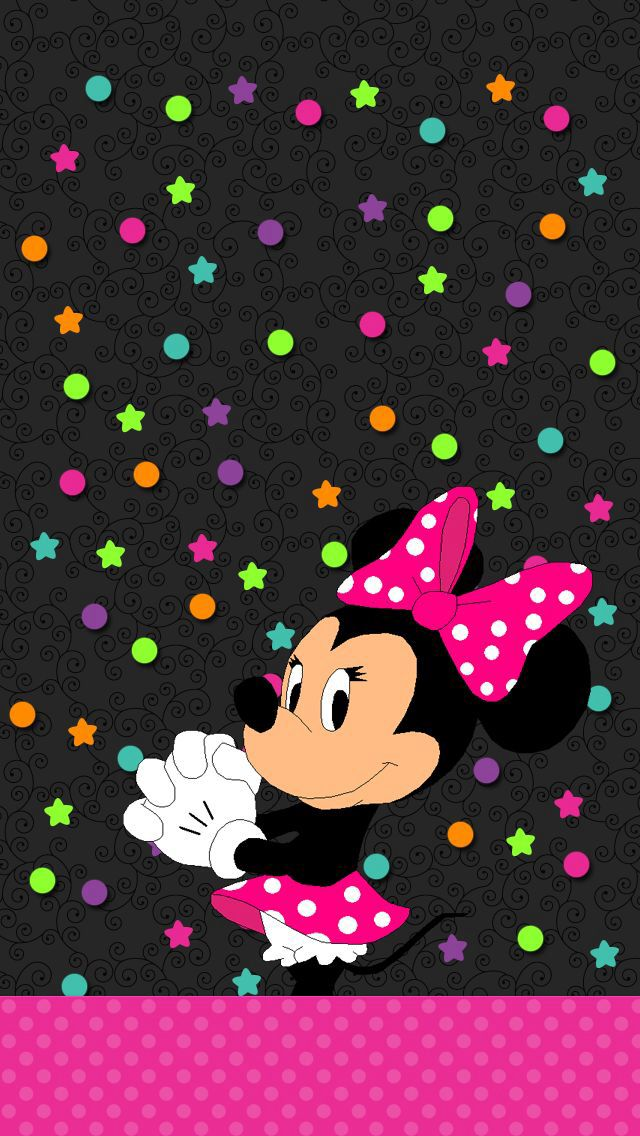 Minnie mouse iphone wallpaper wallpapersafari - Minnie mouse wallpaper pinterest ...