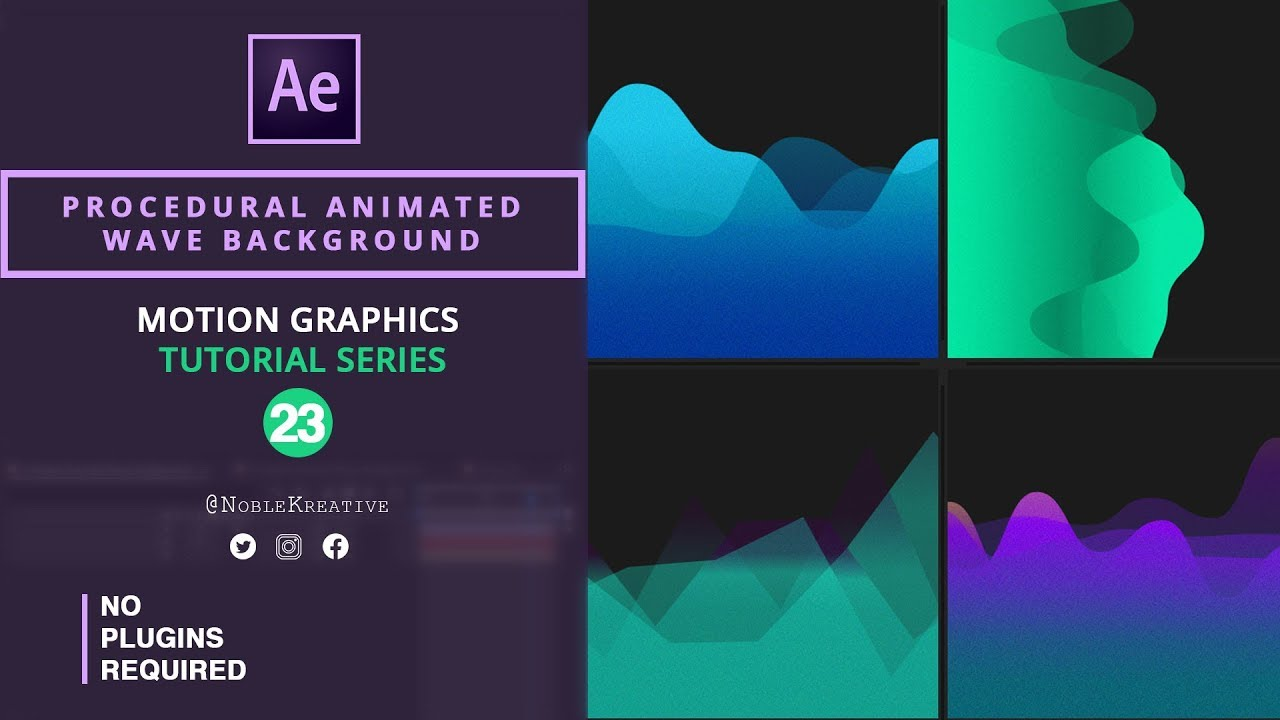 How to Create Procedural Animated Waves Backgrounds in Ae 1280x720